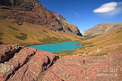 Red Rocks At Cracker Lake Art Print by Adam Jewell