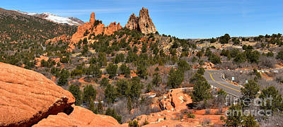 Art Print featuring the photograph Red Rocks At High Point by Adam Jewell