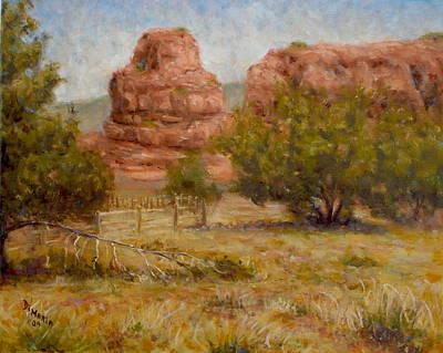 Red Rocks Below Jemez Springs Art Print by Donelli  DiMaria