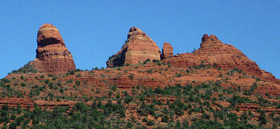 Photograph - Red Rocks, Blue Sky by Sandy Taylor