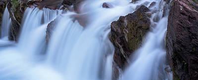 Farmhouse Royalty Free Images - Red Rocks Falls Glacier N P Royalty-Free Image by Steve Gadomski