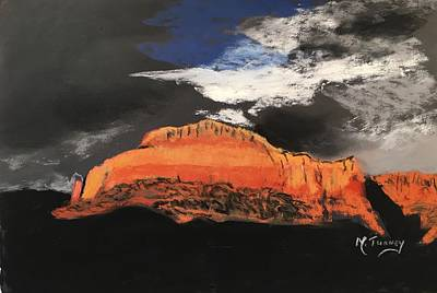 Pastel - Red Rocks Grey Sky by Michele Turney