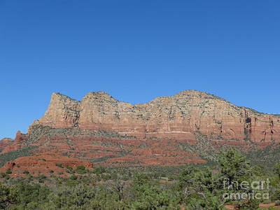 Red Rocks Majesty Art Print by Marlene Rose Besso