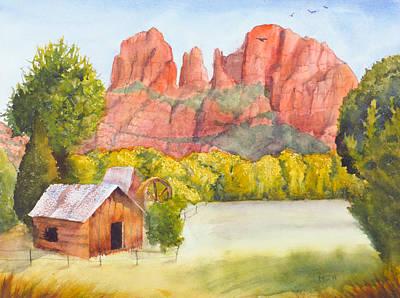 Mystic Desert Painting - Red Rocks Of Sedona Arizona by Melanie Harman