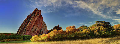 Digital Art - Red Rocks Panorama by OLena Art Brand
