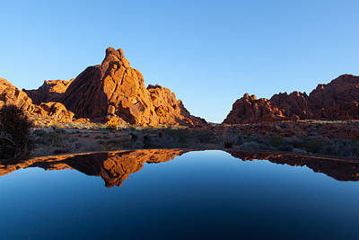 Photograph - Red Rocks Reflection by Brian Grzelewski