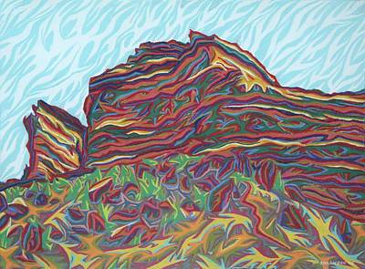 Painting - Red Rocks by Robert SORENSEN