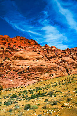 Photograph - Red Rocks Canyon Rule Of Thirds by Ginger Wakem
