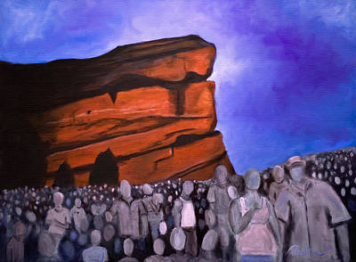 Red Rocks Art Print by Tabetha Landt-Hastings