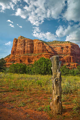 Photograph - Red Rocks Under Blue Skys by Ryan Heffron