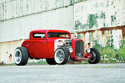 Hotrod Photograph - Red Rod by Tim Gainey