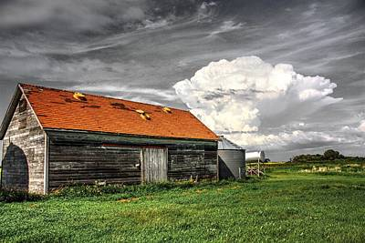 Photograph - Red Roof Back Sky by David Matthews