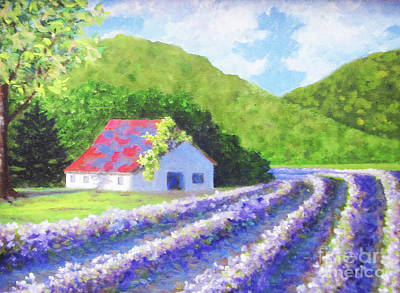 Painting - Red Roof Barn by Anne Marie Brown