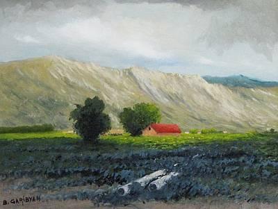 Painting - Red Roof by Boris Garibyan