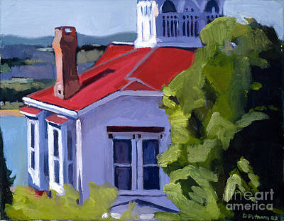 South Boston Painting - Red Roof House by Deb Putnam