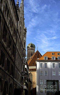 Photograph - Red Roof In Munich by John Rizzuto