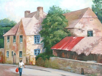 Painting - Red Roof In The Stow by Carol Strickland