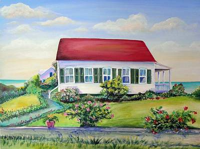Art Print featuring the painting Red Roof Inn by Patricia Piffath