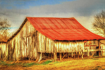 Photograph - Red Roofed Barn by Barry Jones