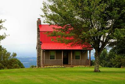 Photograph - Red-roofed Cabin by Kathryn Meyer