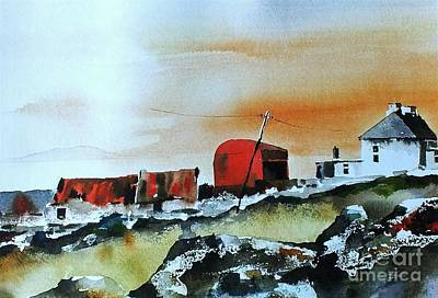 Painting - Red Roofs In Mayo by Val Byrne