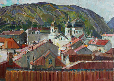 Painting - Red Roofs by Juliya Zhukova