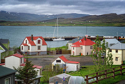 Photograph - Red Roofs Of Holmavik by Tom Singleton