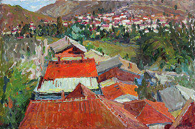 Painting - Red Roofs Of Veles by Juliya Zhukova