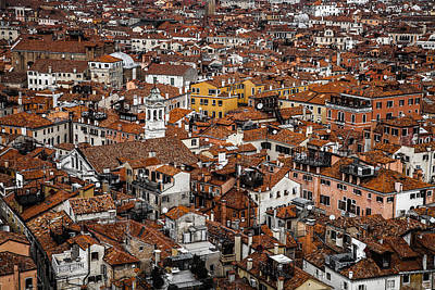 Water Droplets Sharon Johnstone - Red roofs of Venice by Rui Boino