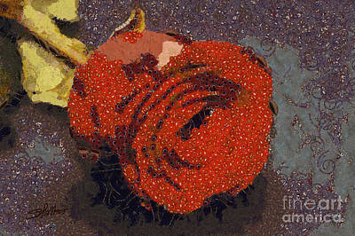 Red Rose Abstract Art Print by Shirley Stalter