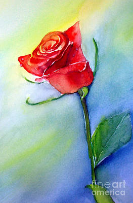 Painting - Red Rose by Allison Ashton