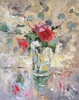 Red Rose And Gardenia Original