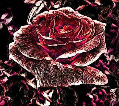 Digital Art - Red Rose by Artful Oasis
