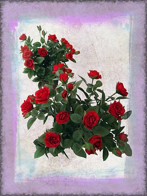 Valentines Day Digital Art - Red Rose Bouquet by Daniel Hagerman