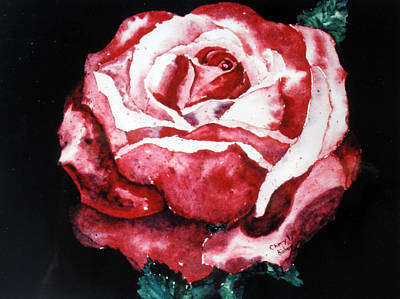 Wall Art - Painting - Red Rose by Cheryl Bishop