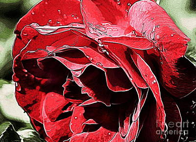 Photograph - Red Rose Dream by Erica Hanel