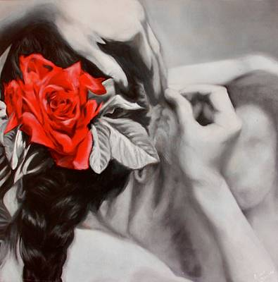 Bailarina Painting - Red Rose by Eliane Bouzas