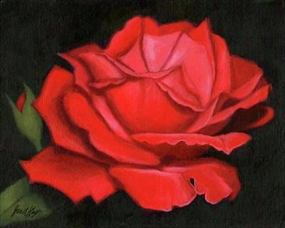 Painting - Red Rose by Janet King