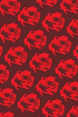 Red Rose Pattern Art Print