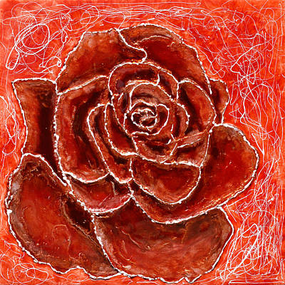 Red Rose Original by Paul Tokarski