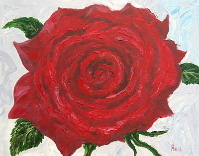 Red Rose Art Print by Pete Maier