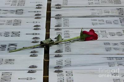 Red Rose Remembrance Art Print
