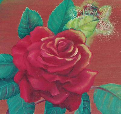 Painting - Red Rose by Suzn Art Memorial