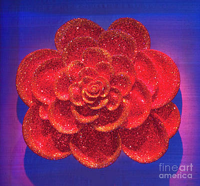 Red Rose Wall Decor Original by Linda Phelps