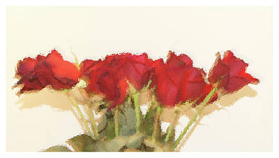 Photograph - Red Roses Under Glass by Margie Avellino