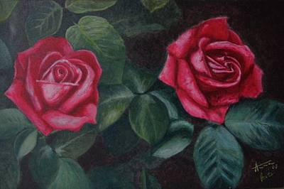 Painting - Red Roses by Anna Brazao