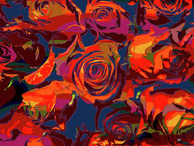 Mixed Media - Red Roses by Charles Shoup