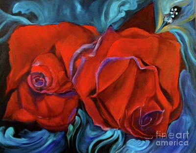 Painting - Red Roses For My Honey by Jenny Lee