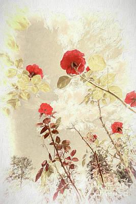 Painting - Red Roses In North Carolina Ap by Dan Carmichael