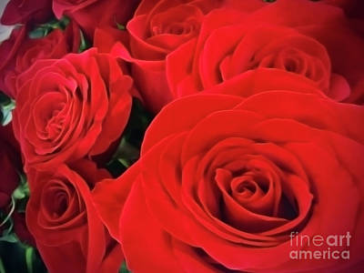 Digital Art - Red Roses by Jasna Dragun